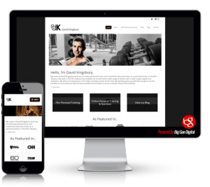 we built david kingsbury personal training website
