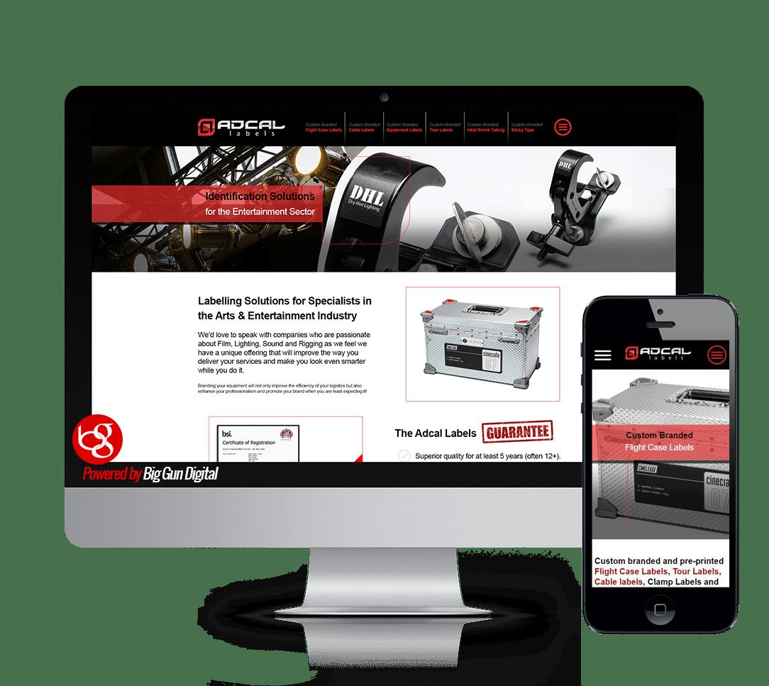 Entertainment labelling website design
